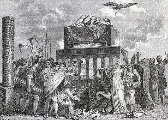 Ölünün Mezara Taşınması, Törenler