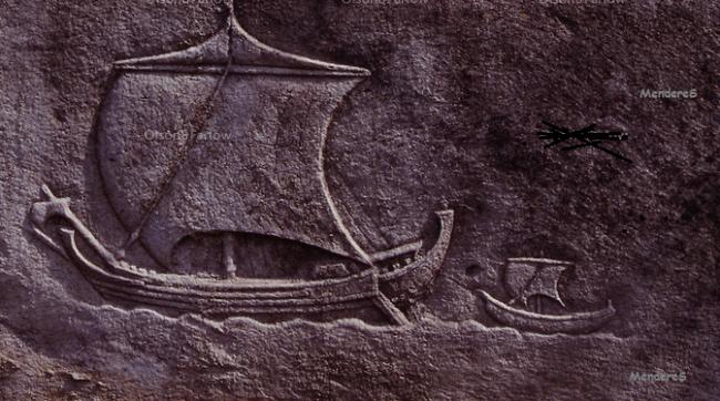 kabartma gemi işareti