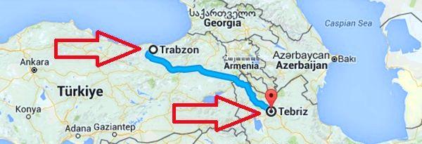 452 Deve Yükü, Trabzon-Tebriz Güzergahı