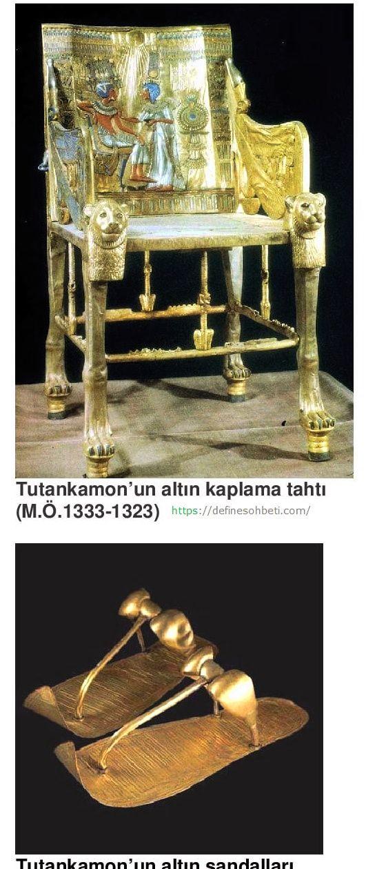 firavun altın sandalye