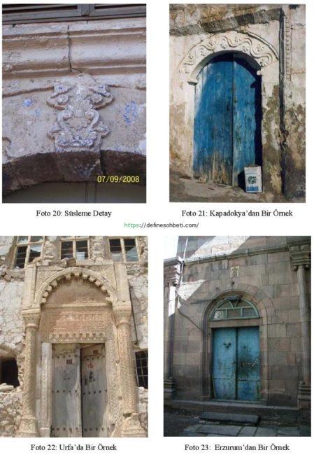 Ermeni ve Rum Evlerinin Mimarisi girişler