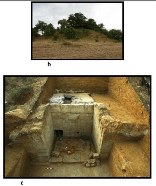 Tümülüs ve kazı alanı