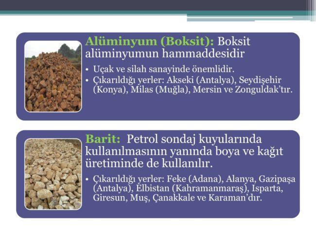 alüminyum ve barit madeni