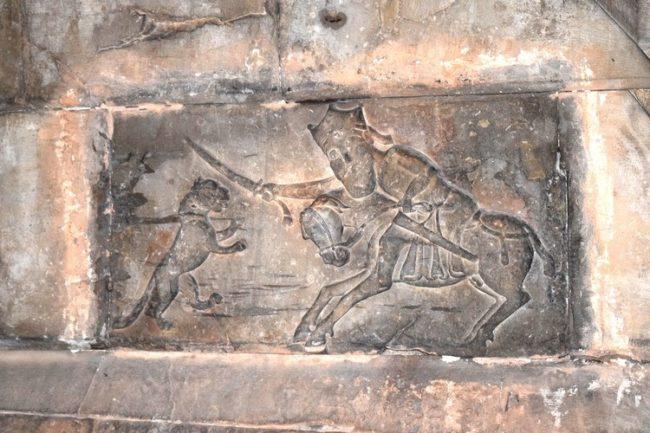 ermeni kaya ve resim saantı ata binmiş avlanan adam