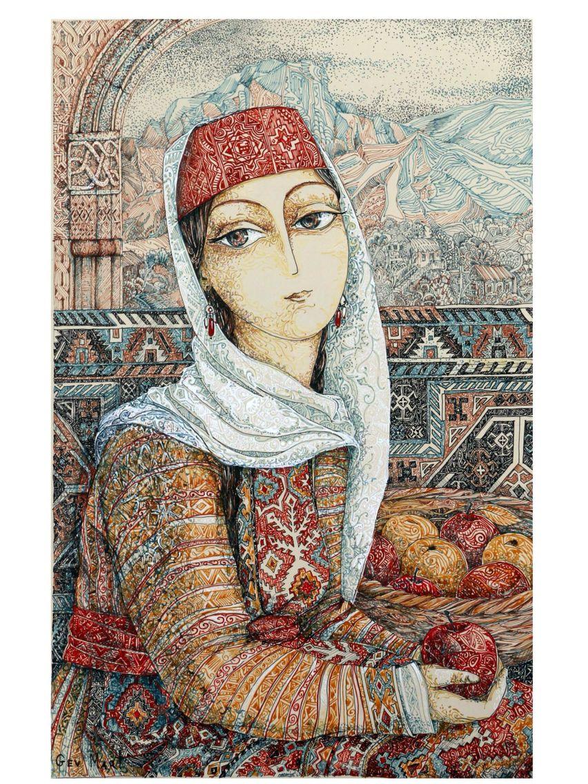 Ermeni Kaya ve Resim Sanatı geç bayan