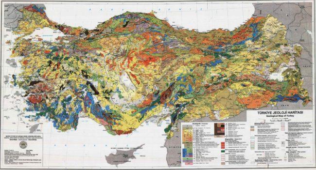 türkiye jeolojik yapısı haritası