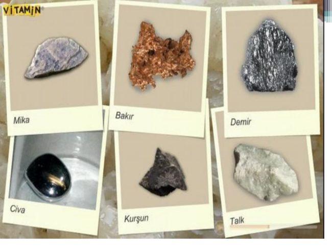 6 maden çeşiti