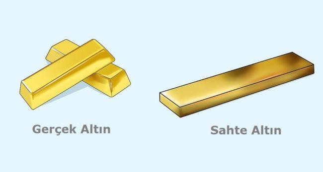 Altın Testi, Sahte ve Gerçek Altını Ayırma
