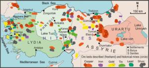 türkiye madenlerin  dağılımı