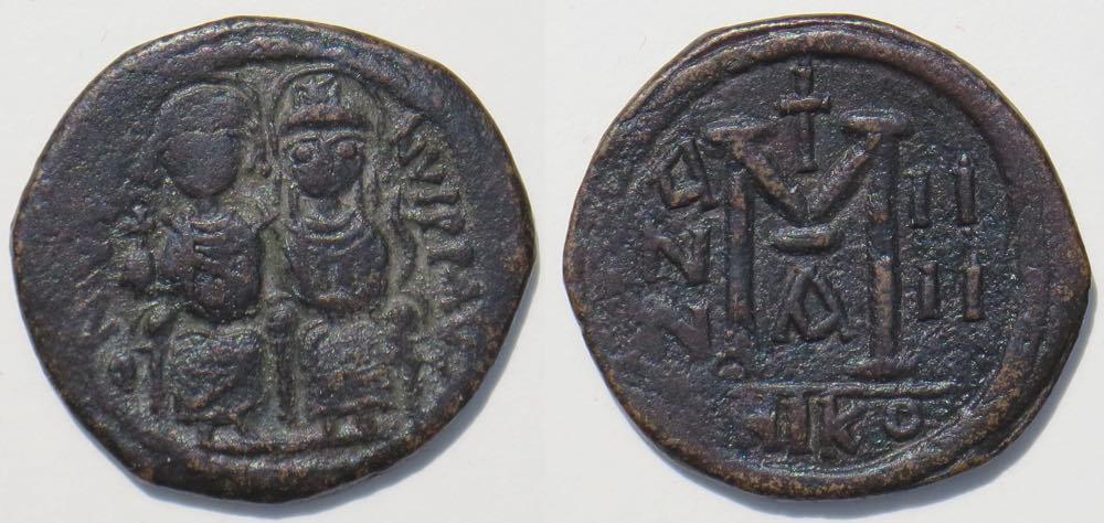 II. Justin Bizans Paralarındaki Harfler ve Rakamlar