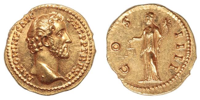 Kronolojik roma altın sikkeleri