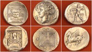 Antik Yunan Gümüş Sikkeleri